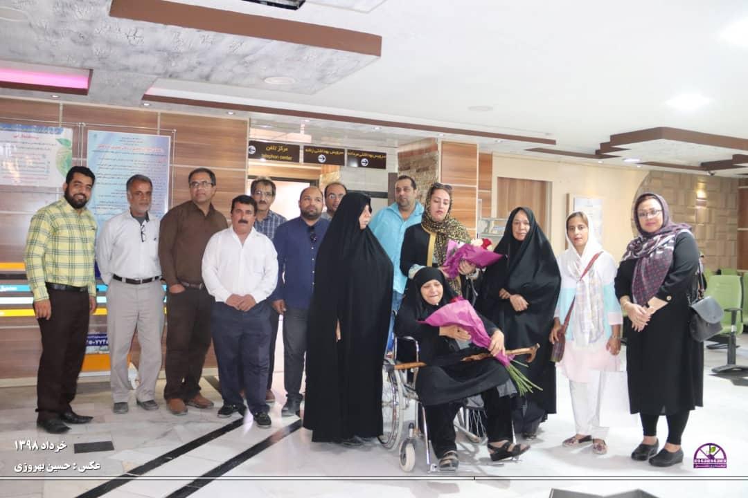 عید دیدنی اعضای سازمان مردم نهاد نیمدری سبز در بیمارستان امیر المومنین