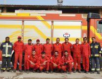 مانور ایمنی ، امداد و آتش نشانی در گناوه برگزار شد