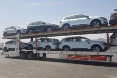 تریلری که ماشین های مسافرین را وارد شهر بوشهر می کرد توقیف شد