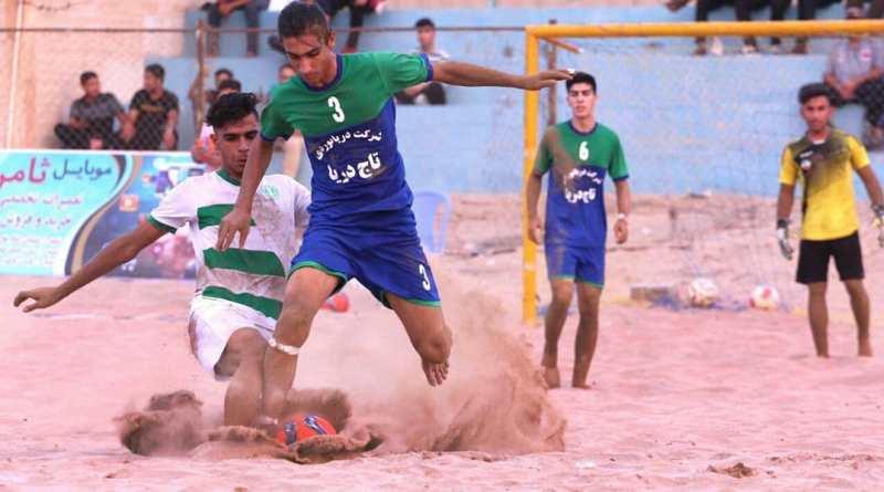 جشنواره گل در فوتبال ساحلی جوانان کشور