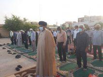 نماز عید فطر با امامت امام جمعه گناوه در مصلی این شهر برگزار شد.